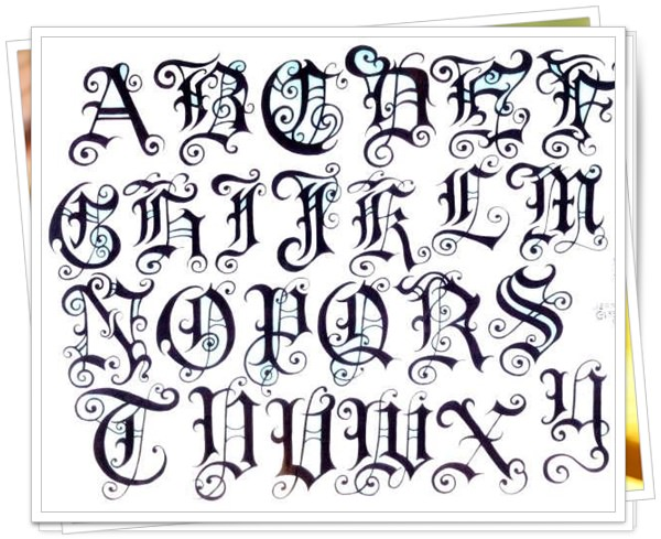 21 Beautiful Fonts For Tattoo Various And Combined Nexttattoos - Letras-para-tatuar
