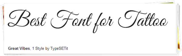 21 Stunning Fonts For Tattoo Numerous and Mixed
