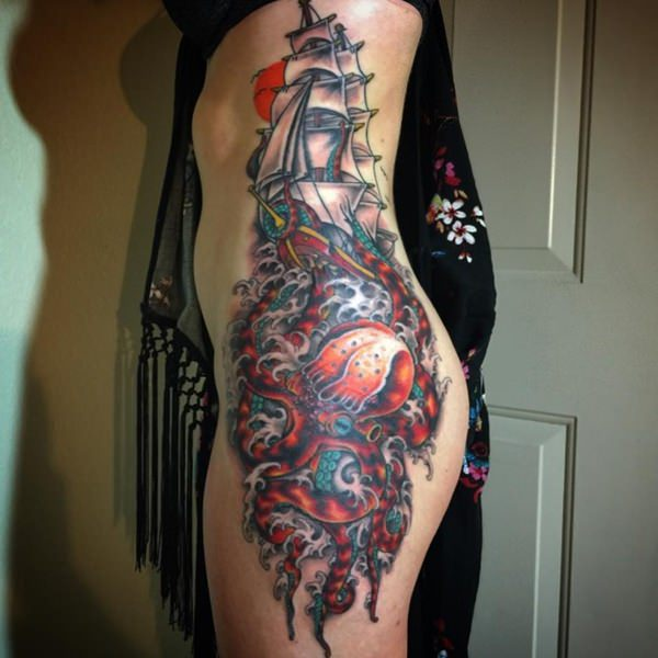 64 Magnificent Examples for Tattoos on the Rib