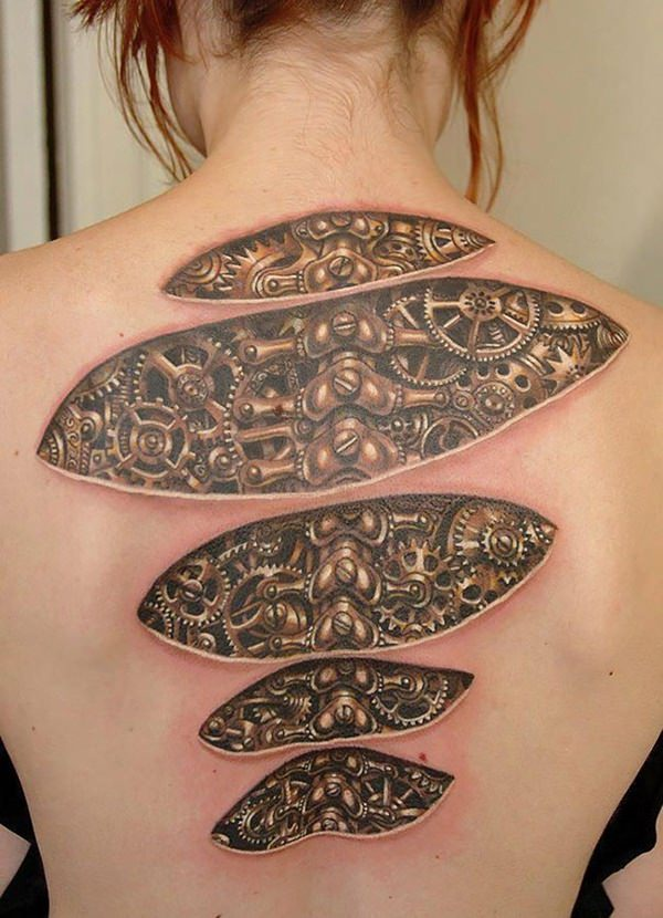 50 Superb Tattoos, 3D and Optical Illusions