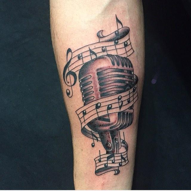 60 Tattoos of musical notes