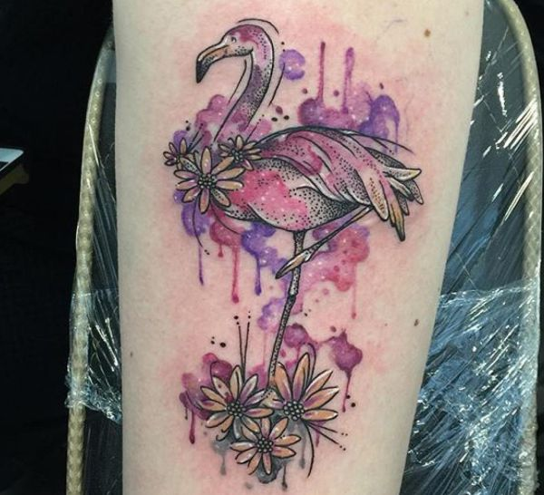 11 totally different lovely flamingo tattoos and their meanings