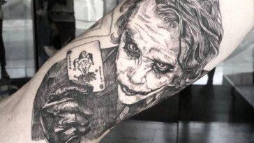 b6cad0385 60 Joker Tattoos » Nexttattoos