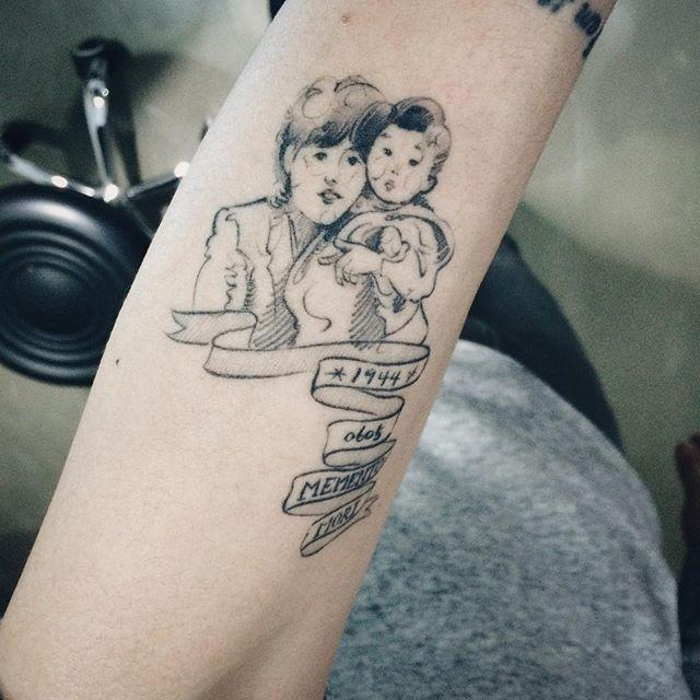 85 Household tattoos representing the union of family members