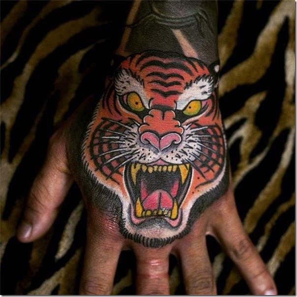 Inventive and galvanizing tigers tattoos
