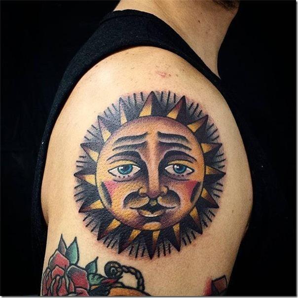 Solar tattoos