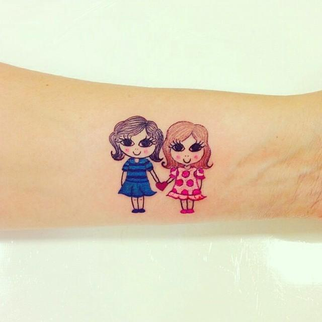 80 Tattoos of friendship for many who share confidences