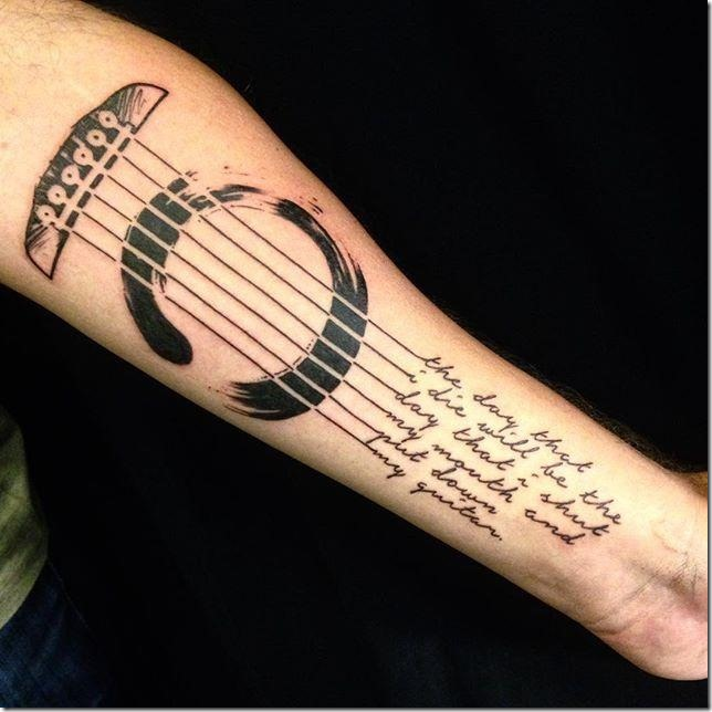55 music tattoos and declare your love