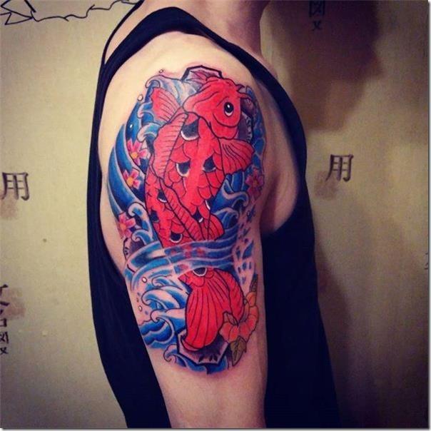 Tattoos of gorgeous and galvanizing carps