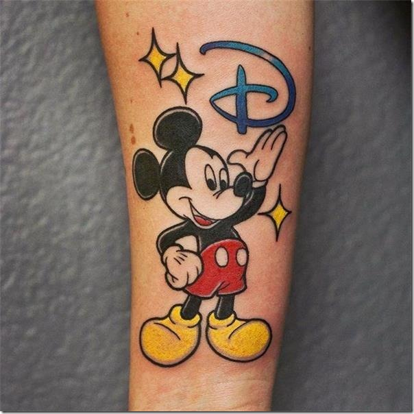 Disney Character Tattoos - Spectacular Images