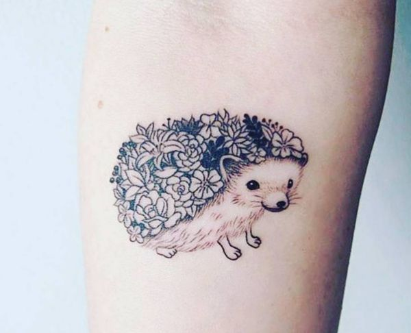 Hedgehog tattoo designs with meanings - 20 concepts