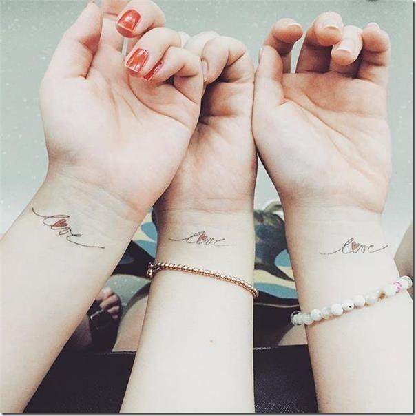 Friendship tattoos for many who share confidences