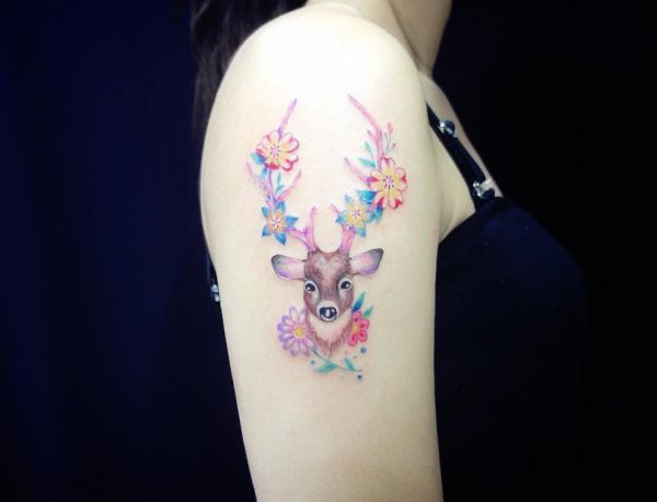 20 Deer Tattoo Ideas Pictures And Meaning Nexttattoos