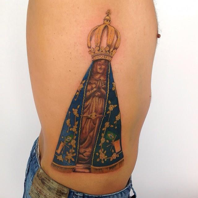 60 Tattoos of Our Woman Aparecida for individuals who have religion and hope