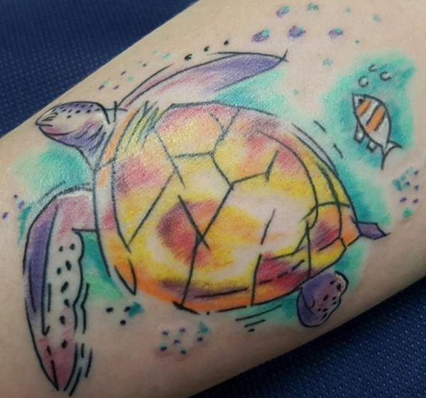 25 turtles tattoo concepts: photos and meanings