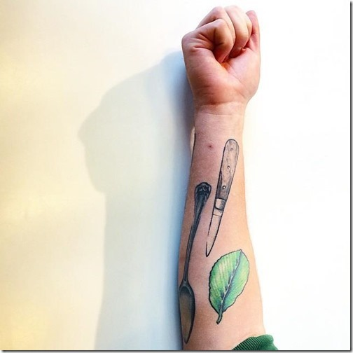 Tattoos for lovers of meals and gastronomy