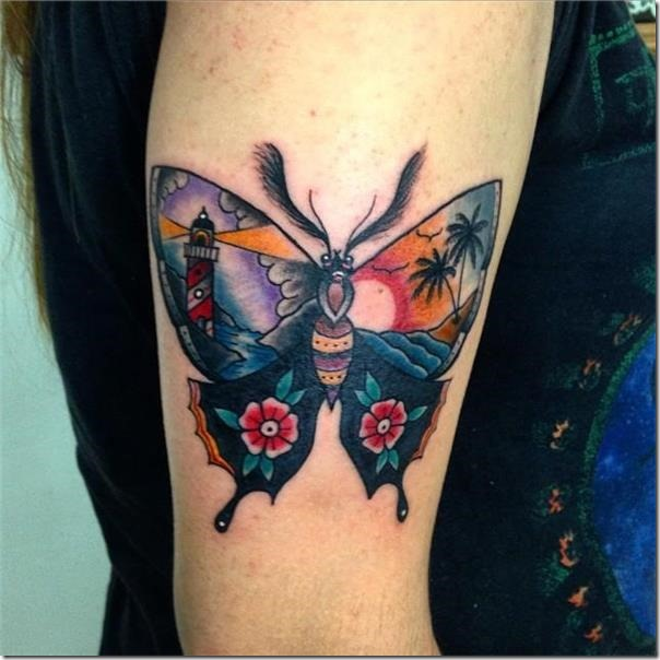 Stunning and provoking butterfly tattoos