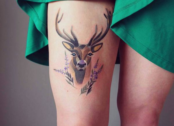 20 deer tattoo concepts - footage and which means