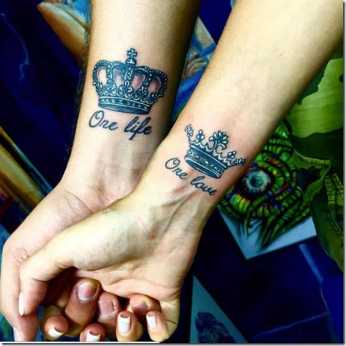 34 Matching Pair Of Tattoos Of All Lovers To Admire