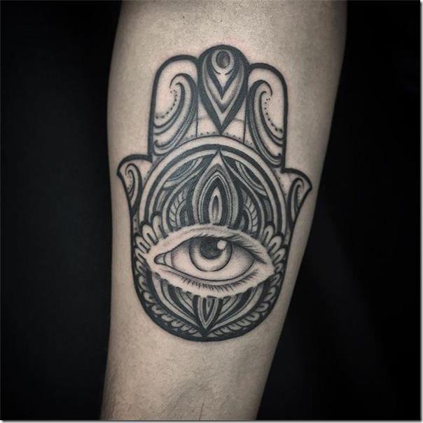 65 hamsá tattoos to get impressed