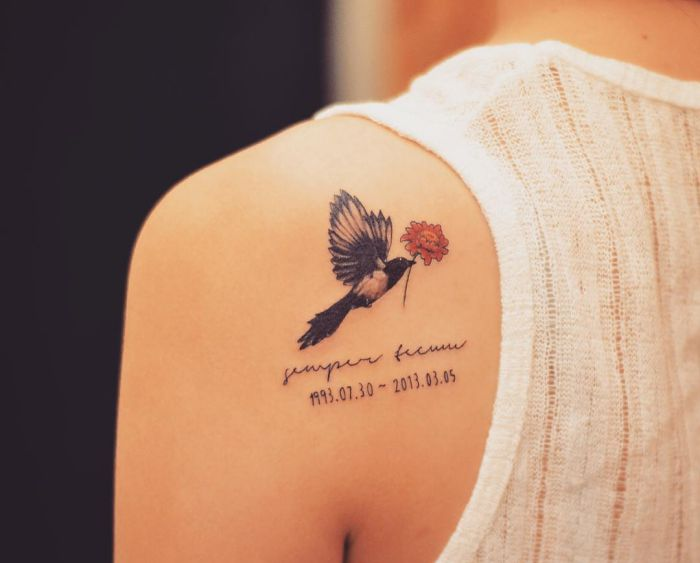 20 Helpful magpie tattoos and the meanings