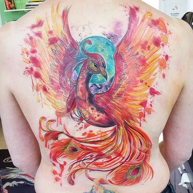 55 Stunning and provoking phoenix tattoos