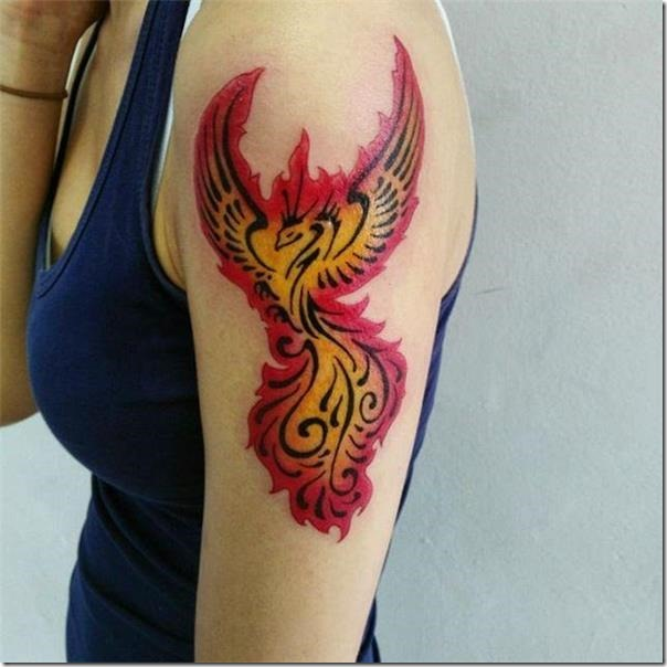 Lovely and galvanizing phoenix tattoos