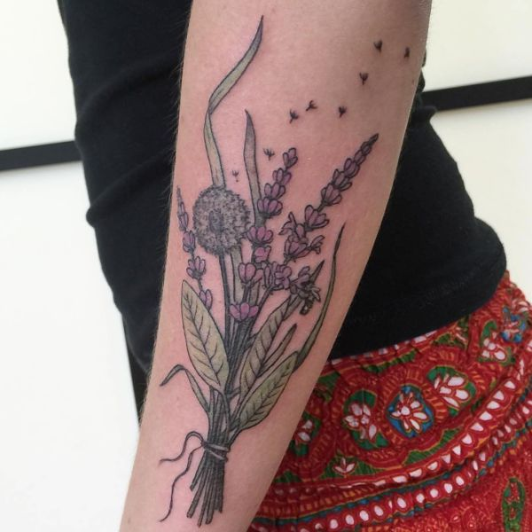 Dandelion (dandelion) tattoo - that means and 20 cool designs