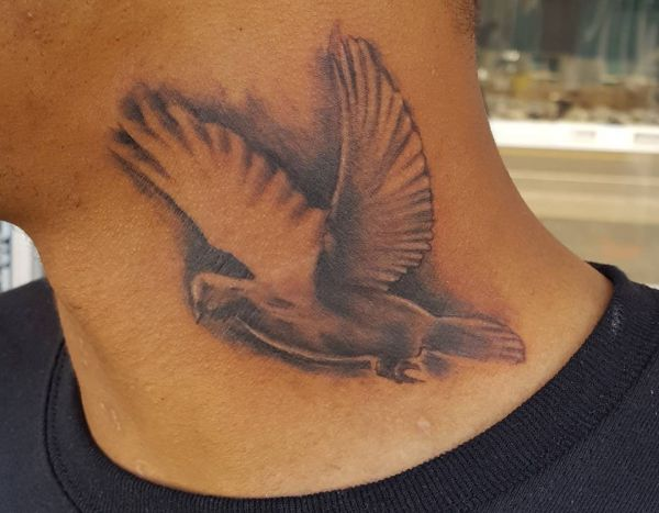 35 pigeon tattoos - it is a global peace signal