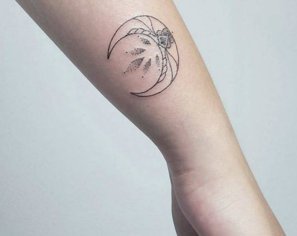 Moon Tattoo Designs with Meanings - 24 Concepts
