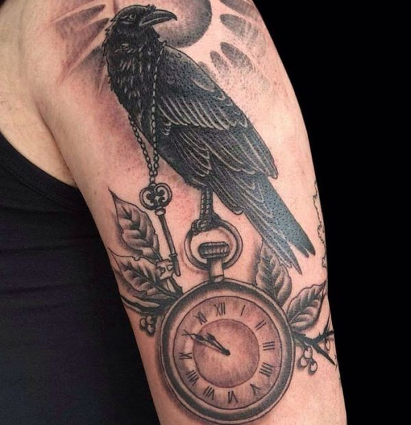 lovely raven tattoos additionally stands
