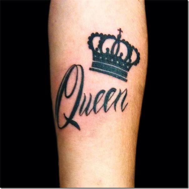 Stunning and galvanizing crown tattoos