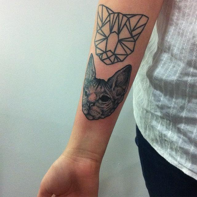 80 Tattoos for cat lovers