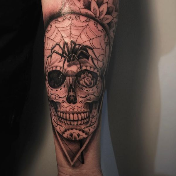 Sugar Cranium Tattoos: 23 concepts with that means