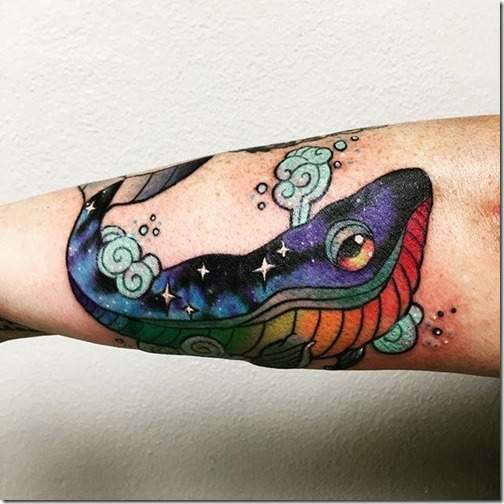 Whale tattoos - photos and drawings