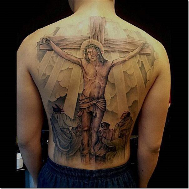 правильно крест с иисусом тату картинки часто