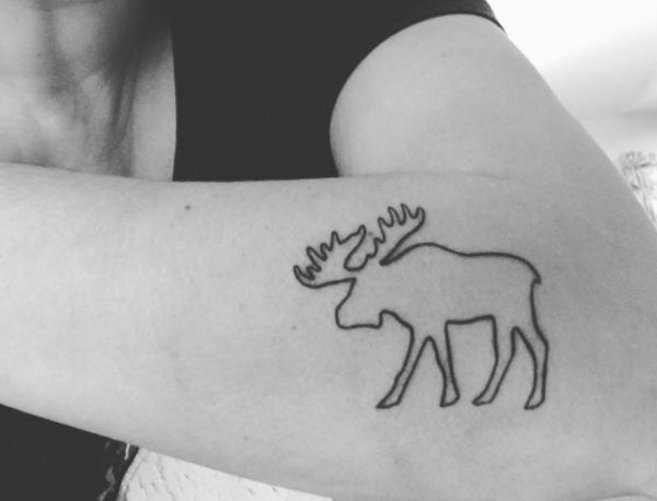 24 Mysterious Moose Tattoos And Meanings Nexttattoos