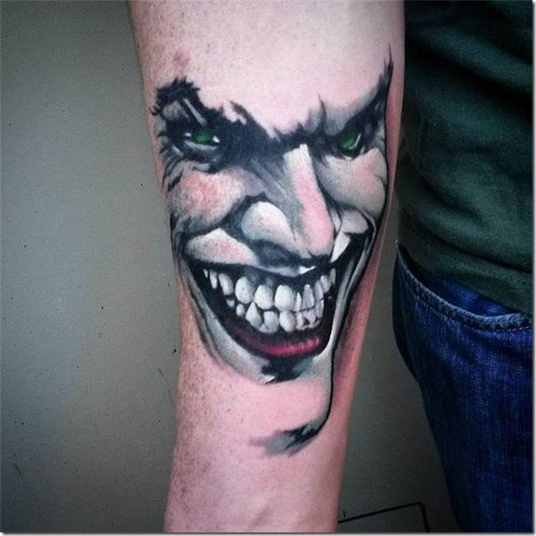 929bc8cf9 Desire to complete with simply the face of the joker? That is good for you! Joker  Tattoos