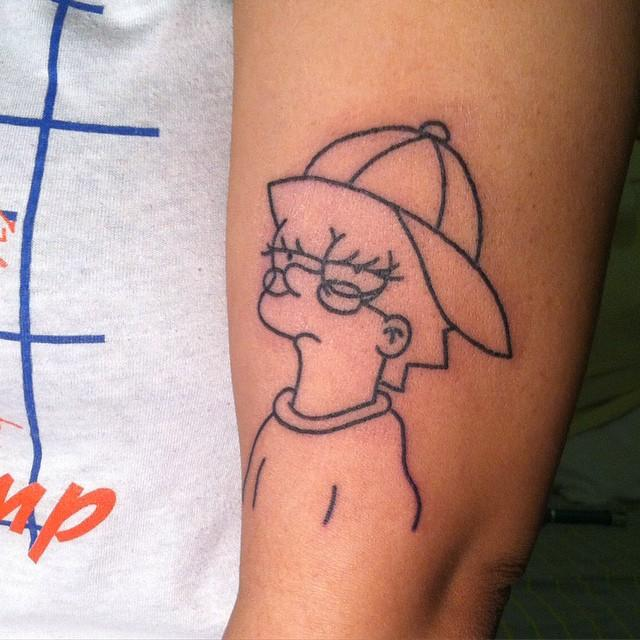 80 Lovely and Inspiring Simpsons Tattoos