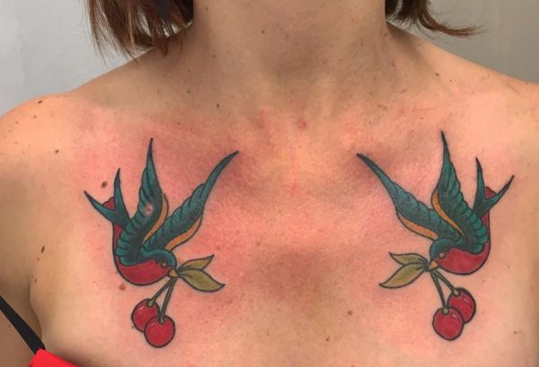 Cherry Tattoo - Which means of the motives and funky designs
