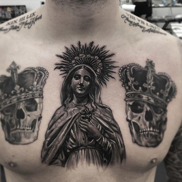 65 Tattoos Of The Virgin Mary Nexttattoos