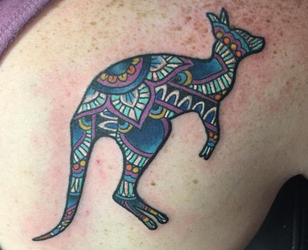 12 lovely kangaroo tattoos and their meanings