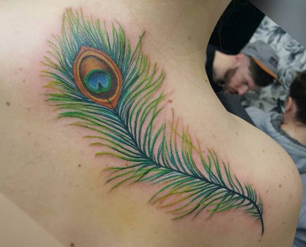 21 very stunning peacock tattoos - as a logo of magnificence