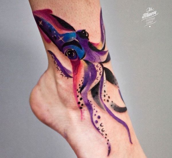 Octopuses and squid tattoos and their which means