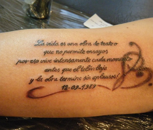 Tattoos With Short Phrases For Women Nexttattoos