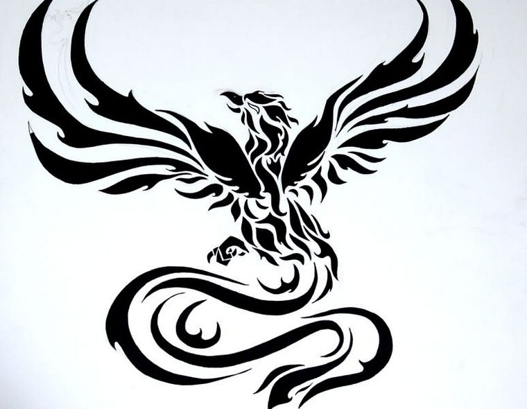 Phoenix tattoo: meanings and concepts in footage