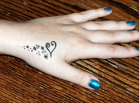 225 Tattoos on the hand, wrist and fingers for girls
