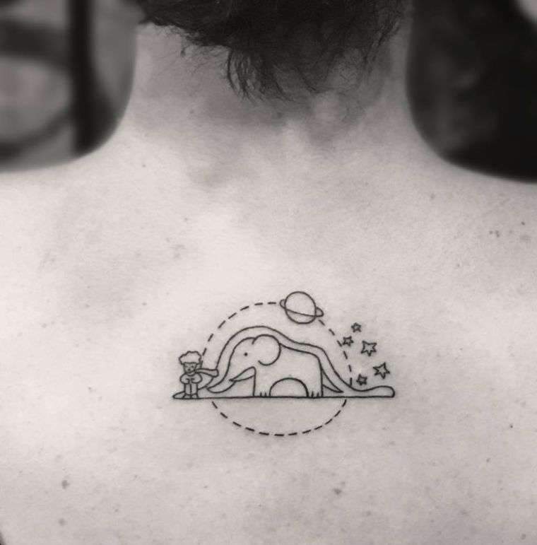 Small tattoo lady and man - discrete concepts and stuffed with originality