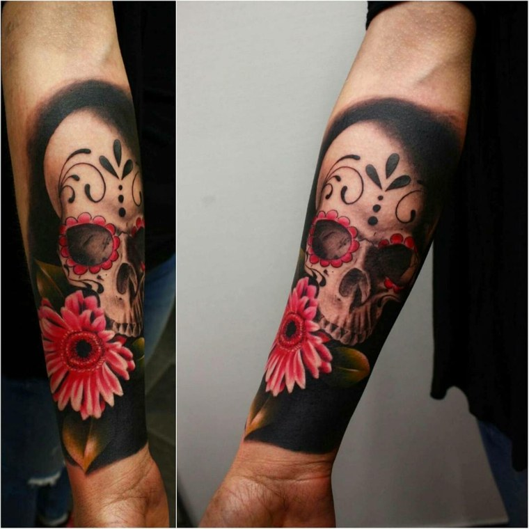 Mexican cranium tattoo: which means, traits