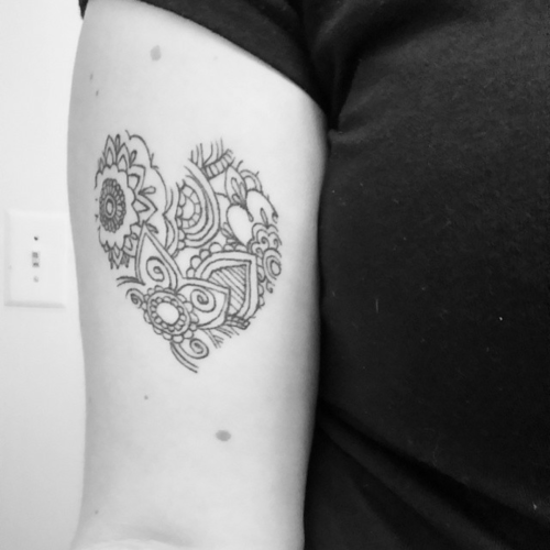 Tattoos of Mandalas for the Again, legs and arms